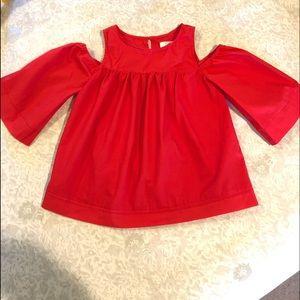 GB girls red shirt size medium